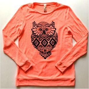 *3/$30* Peach No Boundaries Owl Sweatshirt